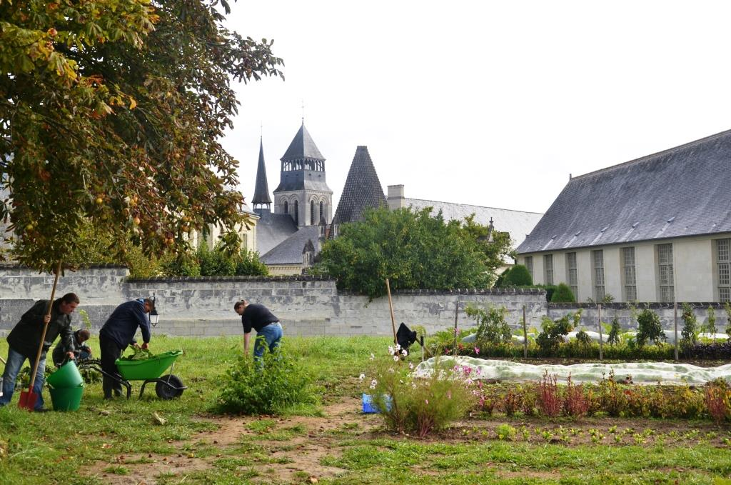 Le potager d'Aspire à Fontevraud
